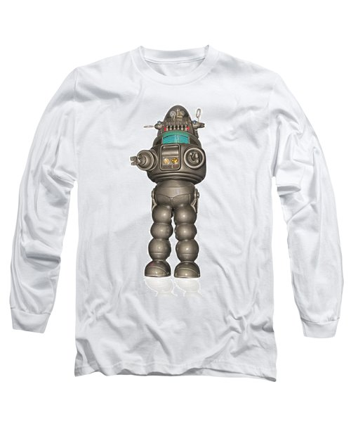 Robby The Robot Long Sleeve T-Shirt by Gary Warnimont