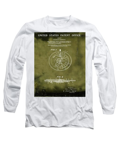 Rolex Watch Patent 1999 In Grunge Long Sleeve T-Shirt