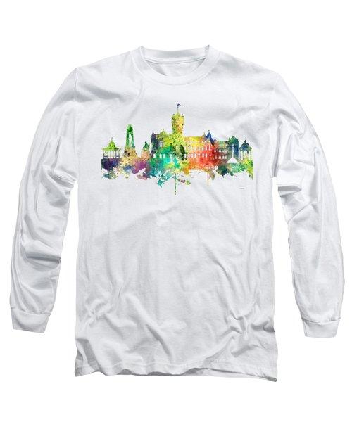 Rutherglen Scotland Skyline Long Sleeve T-Shirt by Marlene Watson