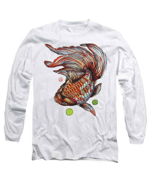 Ryukin Goldfish Long Sleeve T-Shirt by Shih Chang Yang