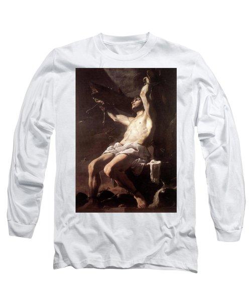 Saint Sebastian By Mattia Preti Long Sleeve T-Shirt