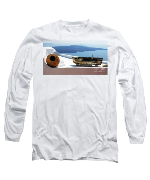 Long Sleeve T-Shirt featuring the photograph Santorini Greece by Bob Christopher