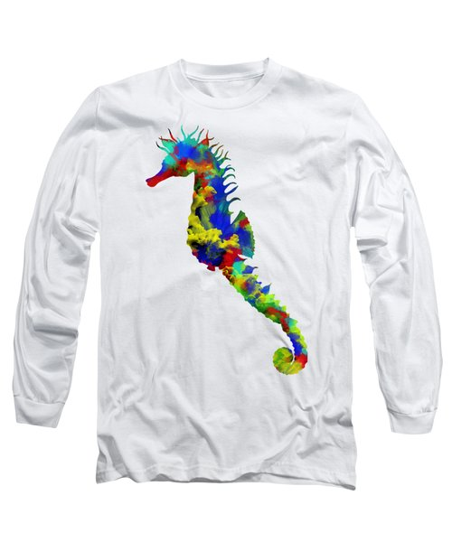 Seahorse Art Long Sleeve T-Shirt by Diana Van