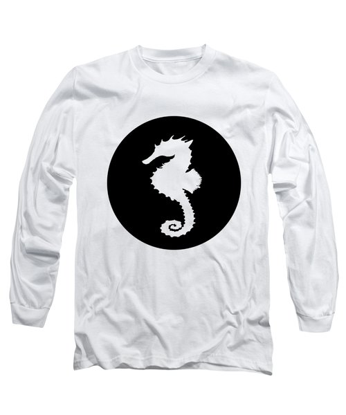 Seahorse Long Sleeve T-Shirt by Mordax Furittus