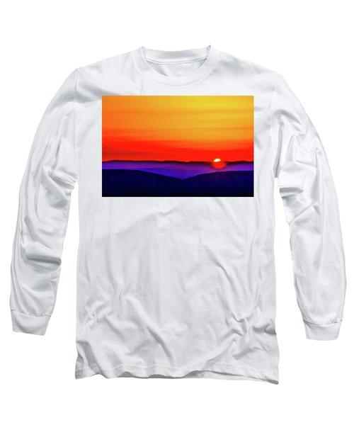 Shenandoah Valley Sunset Long Sleeve T-Shirt