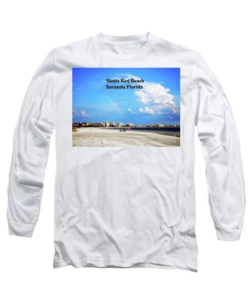 Siesta Beach Long Sleeve T-Shirt by Gary Wonning