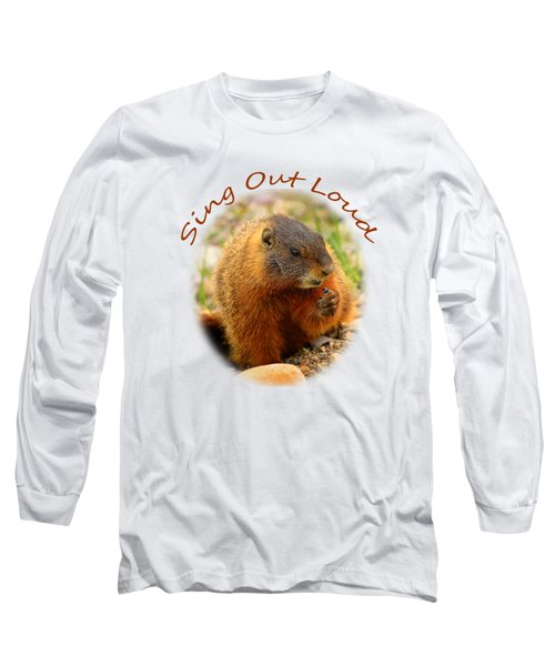 Sing Out Loud Long Sleeve T-Shirt by Greg Norrell