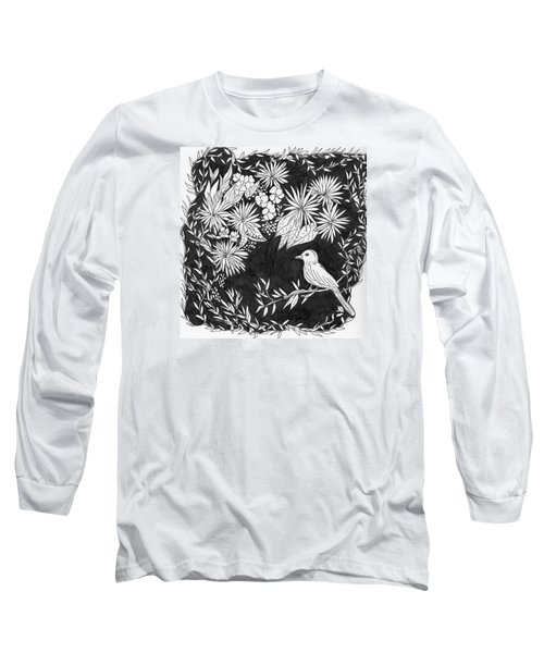 Long Sleeve T-Shirt featuring the painting Sitting Pretty by Lou Belcher