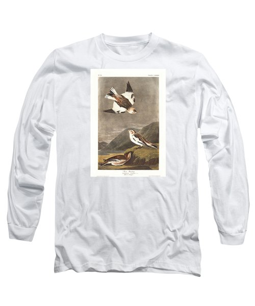 Snow Bunting Long Sleeve T-Shirt by Rob Dreyer