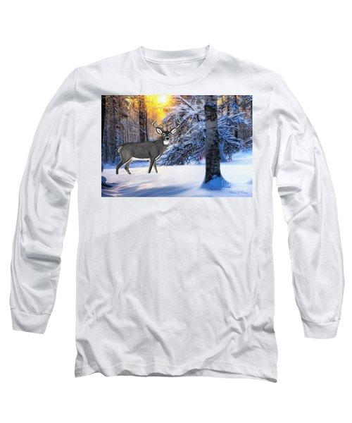 Snow Deer Long Sleeve T-Shirt