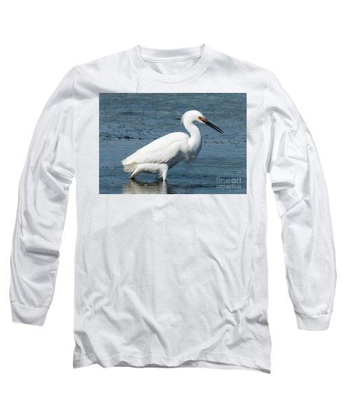 Snowy White Egret Long Sleeve T-Shirt