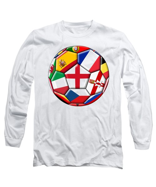 Soccer Ball With Flag Of England In The Center Long Sleeve T-Shirt