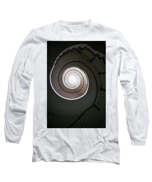Spiral Staircase In Brown Tones Long Sleeve T-Shirt by Jaroslaw Blaminsky