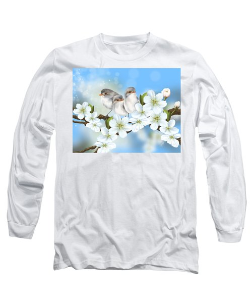 Long Sleeve T-Shirt featuring the painting Spring Fever by Veronica Minozzi