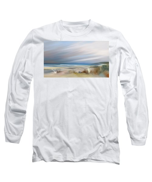 Storm Over Beach Long Sleeve T-Shirt by Anthony Fishburne