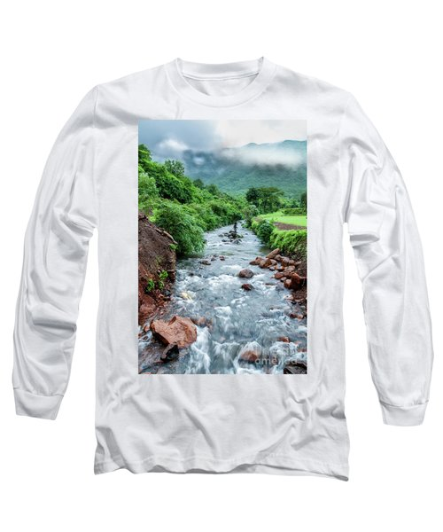 Long Sleeve T-Shirt featuring the photograph Stream by Charuhas Images
