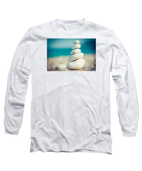 Stupa At Sea Coast Seascape Buddha Long Sleeve T-Shirt