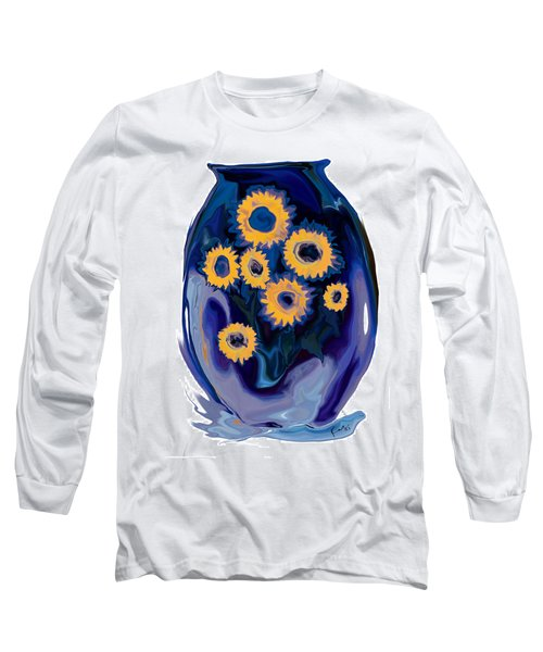 Sunflower 1 Long Sleeve T-Shirt by Rabi Khan