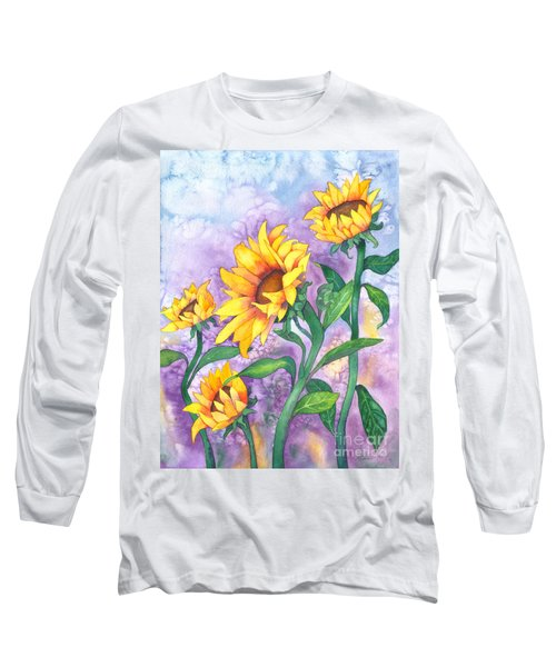 Sunny Sunflowers Long Sleeve T-Shirt