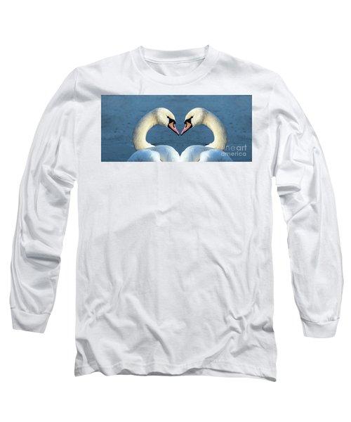 Swans Portrait Long Sleeve T-Shirt