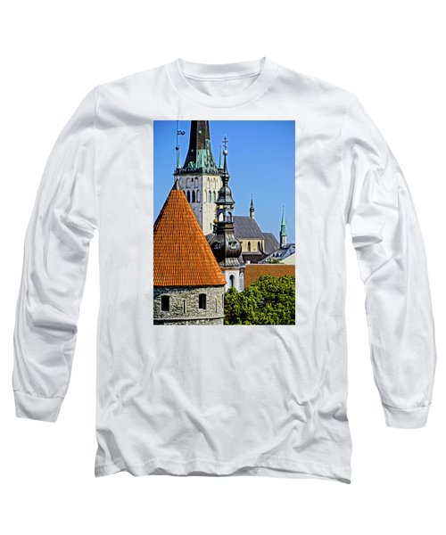 Long Sleeve T-Shirt featuring the photograph Tallinn Steeples by Dennis Cox WorldViews