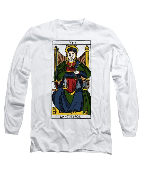 Tarot Card Justice Long Sleeve T-Shirt