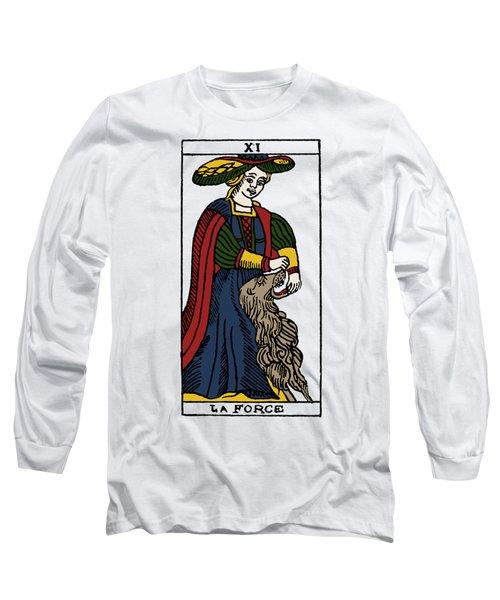Tarot Card Strength Long Sleeve T-Shirt by Granger