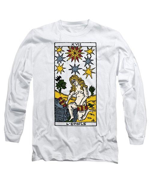 Tarot Card The Stars Long Sleeve T-Shirt by Granger