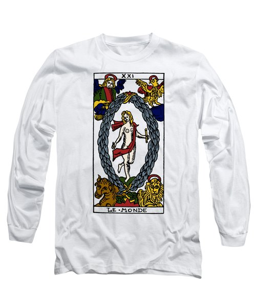 Tarot Card The World Long Sleeve T-Shirt