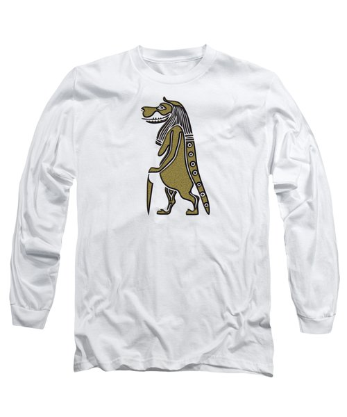 Long Sleeve T-Shirt featuring the mixed media Taweret - Mythical Creature Of Ancient Egypt by Michal Boubin