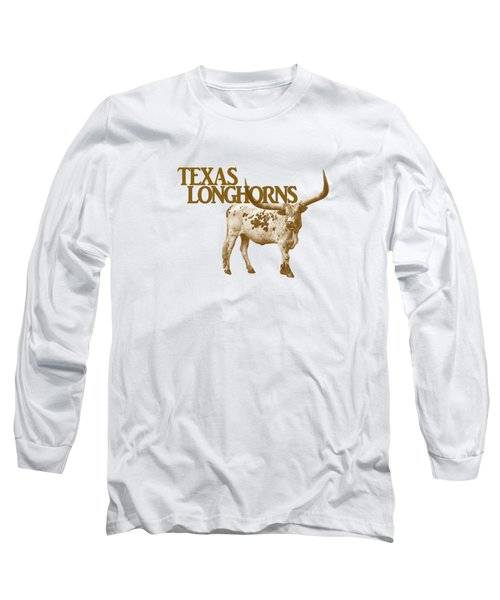 Texas Longhorns Long Sleeve T-Shirt by Priscilla Burgers