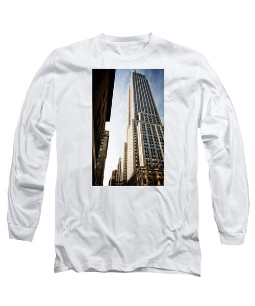 Long Sleeve T-Shirt featuring the photograph The Empire State Building by Sabine Edrissi