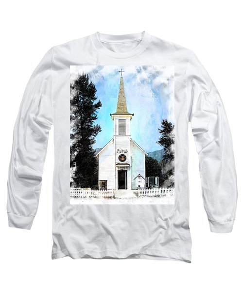 The Little White Church In Elbe Long Sleeve T-Shirt