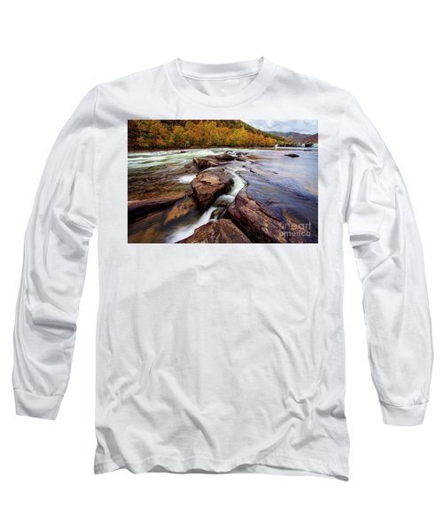 The New River At Sandstone Falls Long Sleeve T-Shirt