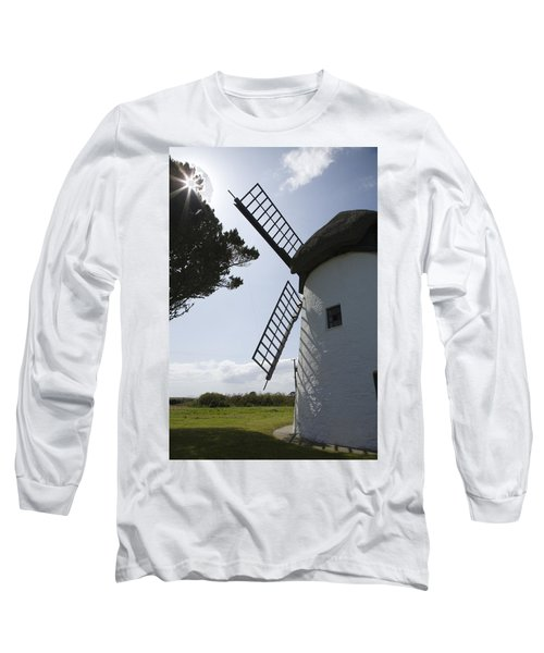 Long Sleeve T-Shirt featuring the photograph The Old Irish Windmill by Ian Middleton