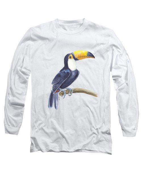 Toucan, Tropical Bird Long Sleeve T-Shirt by Katerina Kirilova