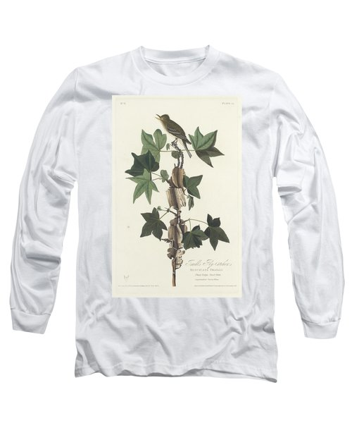 Traill's Flycatcher Long Sleeve T-Shirt by John James Audubon