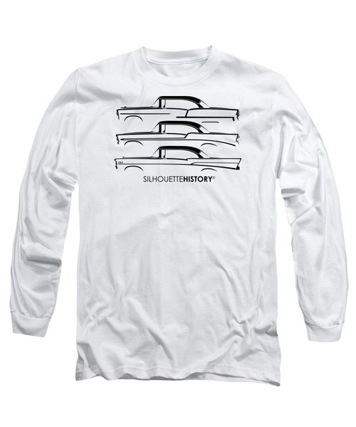 Tri-five Bel Air Silhouettehistory Long Sleeve T-Shirt