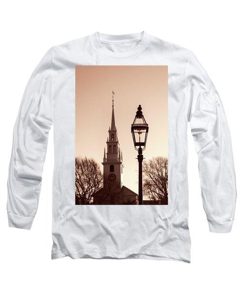 Trinity Church Newport With Lamp Long Sleeve T-Shirt by Nancy De Flon