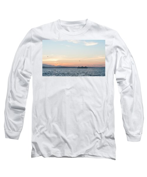 Twilight In Puget Sound Long Sleeve T-Shirt
