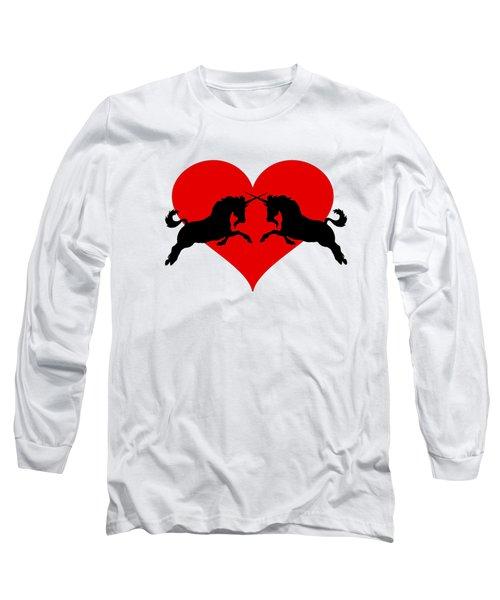 Unicorns Long Sleeve T-Shirt by Mordax Furittus