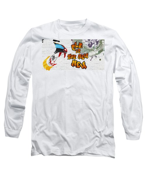 Urban Graffiti - Old Is The New New Long Sleeve T-Shirt