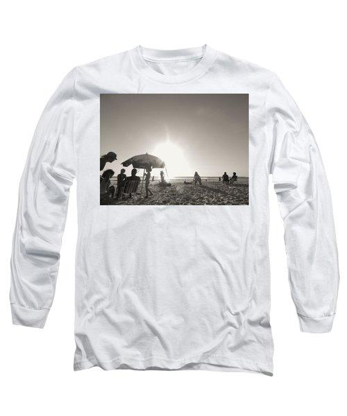 Long Sleeve T-Shirt featuring the photograph Vamos A La Playa by Beto Machado