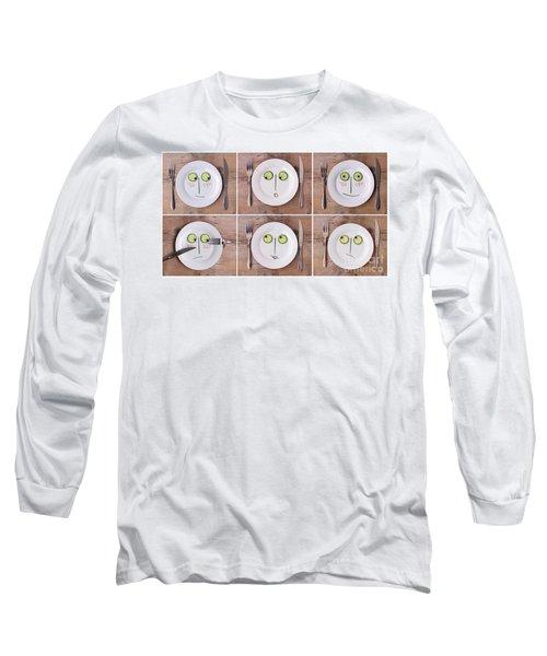 Vegetable Faces Long Sleeve T-Shirt