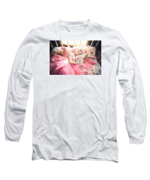 Vintage Val Bedroom Dreams Long Sleeve T-Shirt by Jill Wellington