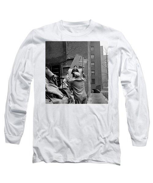 Vivian Maier Self Portrait Probably Taken In Chicago Illinois 1955 Long Sleeve T-Shirt