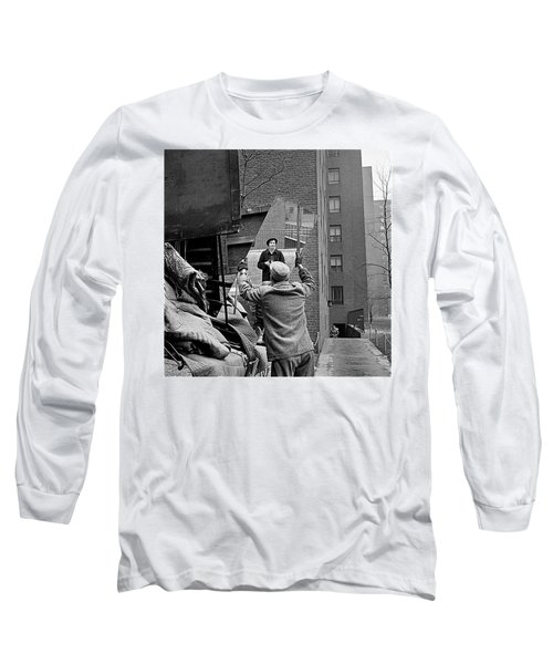 Vivian Maier Self Portrait Probably Taken In Chicago Illinois 1955 Long Sleeve T-Shirt