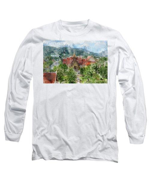 Wat Chalong In Phuket Thailand Long Sleeve T-Shirt