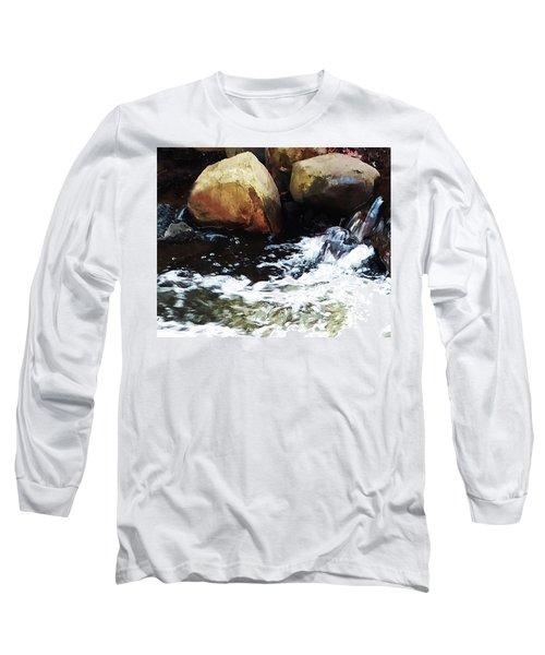 Waterfall Abstract Long Sleeve T-Shirt