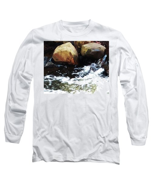 Waterfall Abstract Long Sleeve T-Shirt